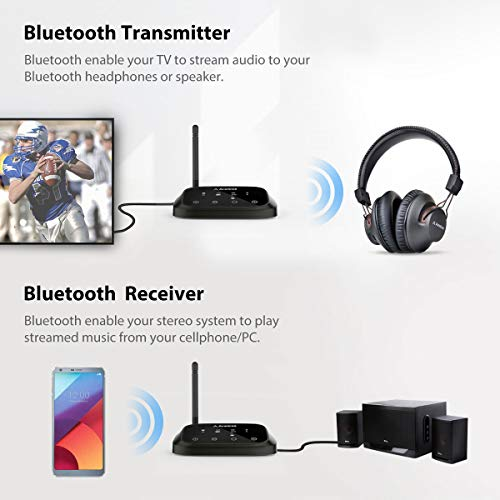 Premium Version Avantree Oasis Plus aptX HD Long Range Bluetooth  Transmitter Receiver for TV Audio Home Stereo Optical Digital AUX RCA Wired  Wireless