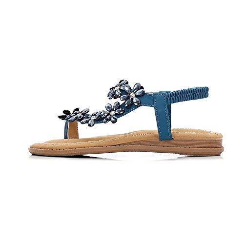 Sandalias Azul y Verano 35 Exterior Taladro Tamaño Bohemia Damas Tamaño Sandalias Sandalias Zapatos 42 rSxrOqF