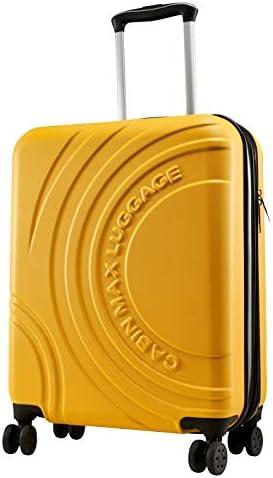 Cabin Max Velocity - Maleta para Equipaje de Cabina Ligera | Trolley de ABS con Ruedas de 55 x 40 x 20 cm Extensible a 55 x 40 x 25 cm Aprobado para Vuelo en Ryanair, EasyJet, BA (Amarillo Toscano)