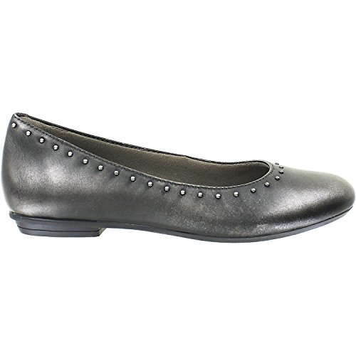 Earth Women's Anthem Pewter Metallic Leather 9 B US (Footwear Pewter Leather)