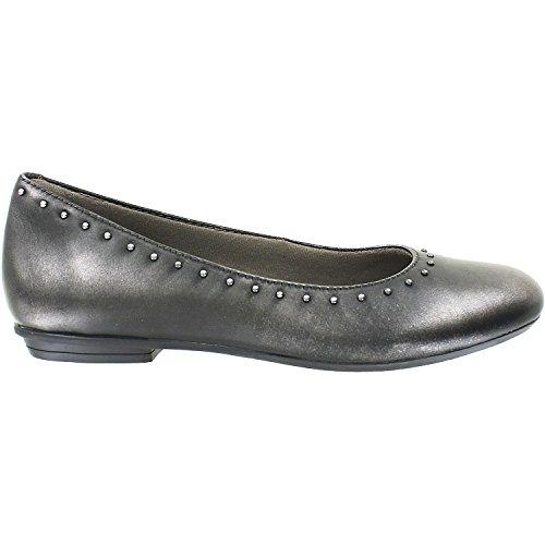 Earth Women's Anthem Pewter Metallic Leather 9 B US (Pewter Leather Footwear)