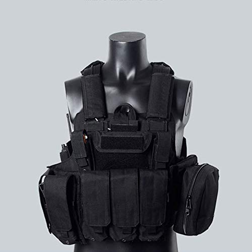 LXY&AI Chaleco Táctico Militar - Chaqueta Exterior para Pistola De Aire - CS Military Role Player - Bolsa Extraíble Jungle...