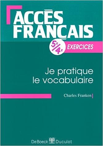 Download Online Je pratique le vocabulaire pdf, epub ebook