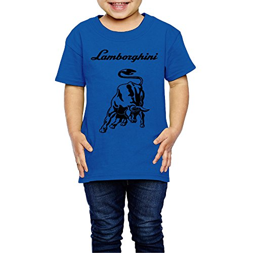 tanxj-unisex-childrens-kids-lamborghini-logo-t-shirts-2-6-years