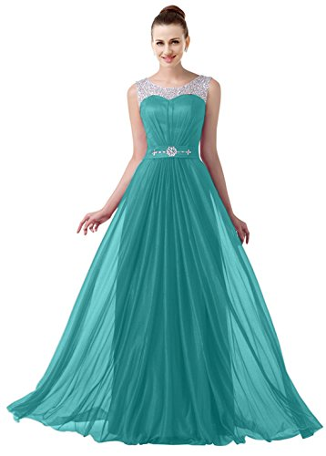 VaniaDress Women Elegnat Rhinestone Bridesmaid Evening Dress Prom Gown V004LF Turquoise US12