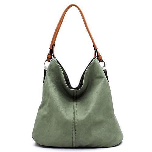 Slouchy light and classic hobo shoulder handbag with detachable cross-body shoulder strap ()