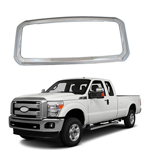 NINTE Grill Covers for Ford F-250 F-350 F-450 Super Duty 2011-2016, ABS Chrome Front Bumper Hood Grille Cover - 4pcs ()