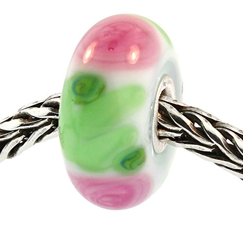 Authentic Trollbeads Glass 61372 Rose - Trollbeads Rose