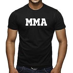 Men's Old School MMA V441 Black T-Shirt Large Black
