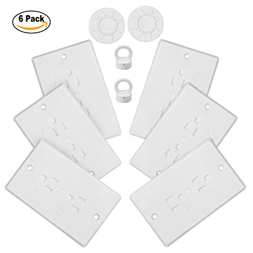 Child Safety Outlet Covers Baby Proofing Electric Wall Socket Plugs 6 Pack + 2 Keys by YOOFOSS Lock Duplex Receptacle
