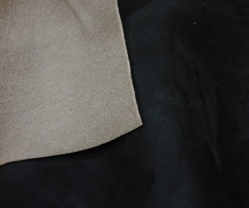 Black Suede Stretch Headlining Foam Backed Fabric 60
