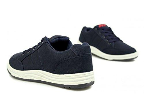 Blue Pour Baskets Homme Dek Mode Textile Navy wEgBX