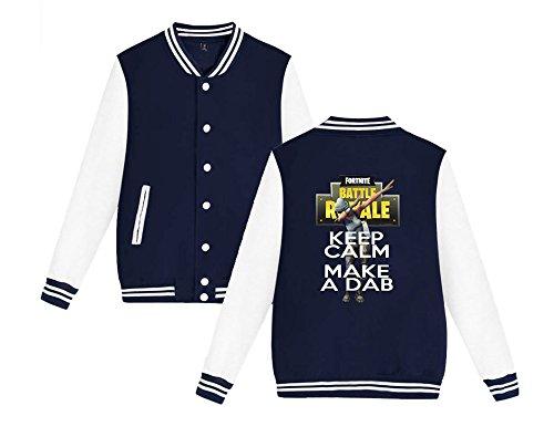 Casual Dark Uomini Da Baseball Moda Giacca Unisex Sweatshirts Per Blue Fortnite Leggera E Donne Stampate Comode Allentato Aivosen aOnwxHSEn