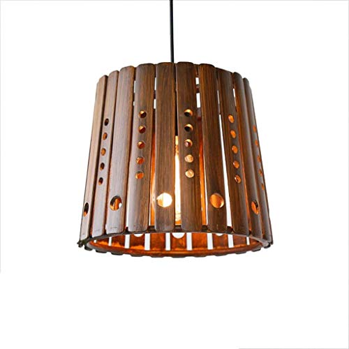 XAJGW Bamboo Weaving Pendant Lamp Creative Hand-Woven Birdcage Chandelier Vintage Cafe Pastoral Rattan Weaving Restaurant Ceiling Decorative Lighting E27 -