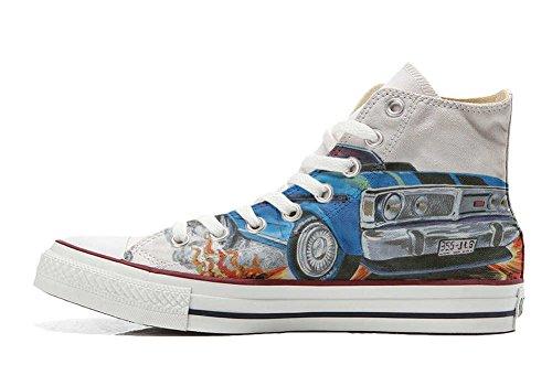 Handmade Produit Unisex Converse Chaussures Sneaker Coutume Chevrolet et Star All Personnalisé Hi Imprimés Italien pF7Tq