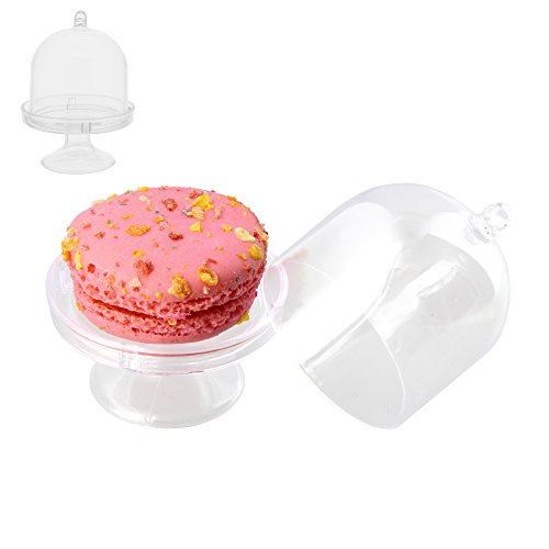 Compare Price Mini Acrylic Cake Stand With Lid On