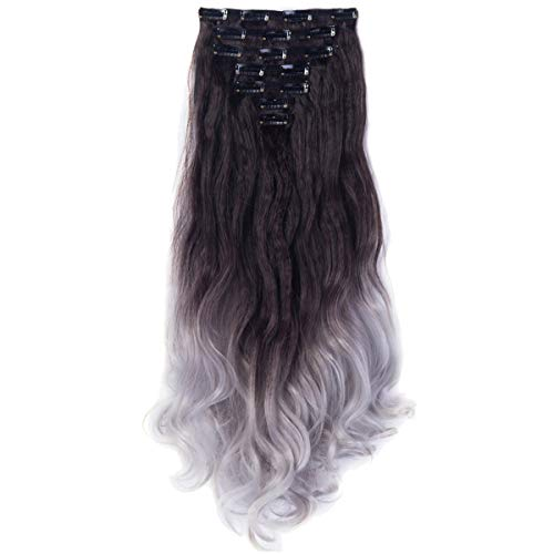 3-5 Days Delivery 7Pcs 16 Clips 24 Inch Wavy Curly Clip in on Double Weft Hair - Set Tone Pave Two