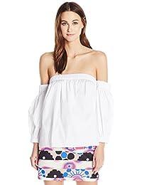 Women's Cotton Poplin Off The Shoulder Blouse