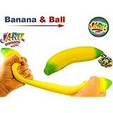 JA-RU Super Stretchy Banana and Bouncy Ball Bundle Stretches Long. Smells Good 3340-1p