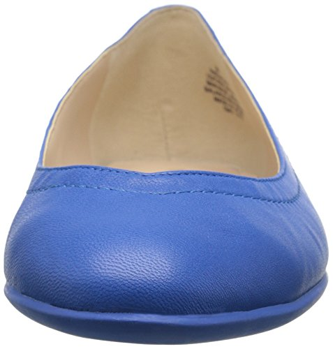 Blue Flat West Women's Zarong Nine Ballet Leather Yw76FCC1qx
