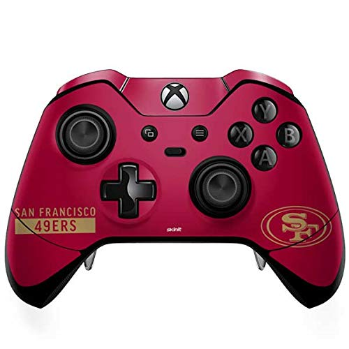 Skinit San Francisco 49ers Red Performance Series Xbox One Elite Controller Skin - Officially Licensed NFL Gaming Decal - Ultra Thin, Lightweight Vinyl Decal Protection