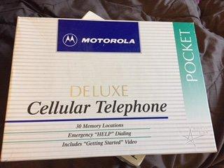 Vintage Motorola Pocket Deluxe Analog Cellular Telephone ...