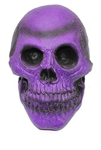 """7 1/2"""" PURPLE Rubber Skull - Halloween Decoration"""