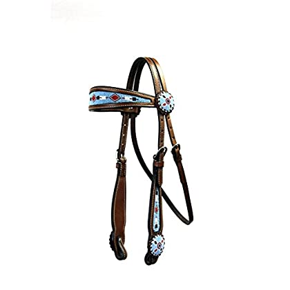 Image of Bridles & Accessories Colorado Saddlery The 5-80dk Big Sky Beaded Headstall