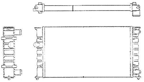Raffreddamento motore BEHR HELLA SERVICE 8MK 376 713-424  Radiatore