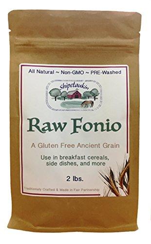 Shipetaukin Raw Fonio Gluten Free Ancient African Grain, 2 L