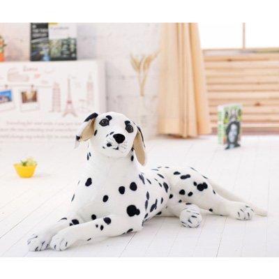 Simulación simulación casera Hebao Dálmata perro de juguete Peluche areneros Childrens Gift, Blanco Doberman,