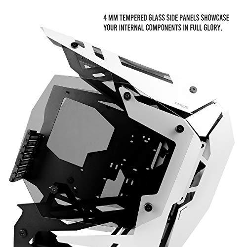 Antec Torque White / Black Aluminum ATX Mid Tower Computer Case/ Winner of iF Design Award 2019, Torque Black/White
