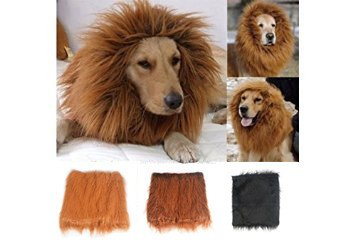 [New Pet Costume Lion Mane Wig For Dog Halloween Cloth Festival Fancy Dress Up (color: Black,size:] (Dog Lion Costume Large)