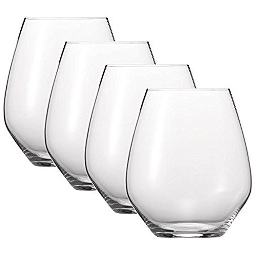 Spiegelau 4800280 Authentic Casual Stemless Wine Glasses (Set of 4), X-Large, Clear (Wine Glass 22 Oz)