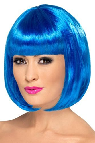 TINYUNICORN Women's Neon Bob Costume Wig for Cosplay Party (Beehive Costume Wig)