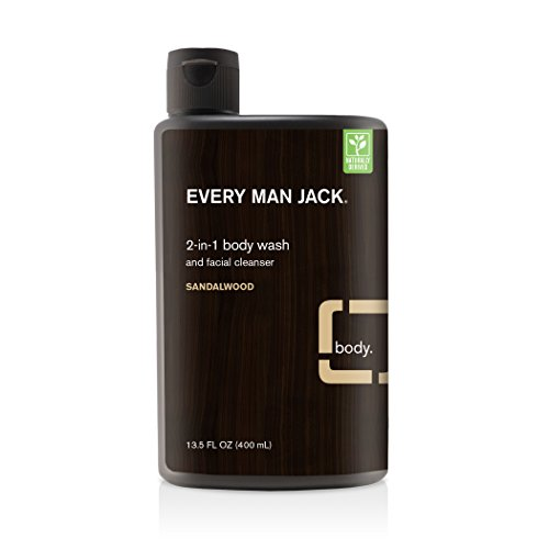 Every Man Jack Body Wash (Every Man Jack Body and Face Wash, Sandalwood, 13.5 Fluid Ounce)