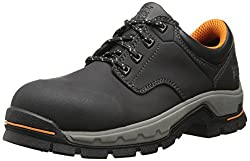 Timberland PRO Men's Stockdale Grip Max OX Alloy Toe Work and Hunt Boot, Black Microfiber, 7 W US