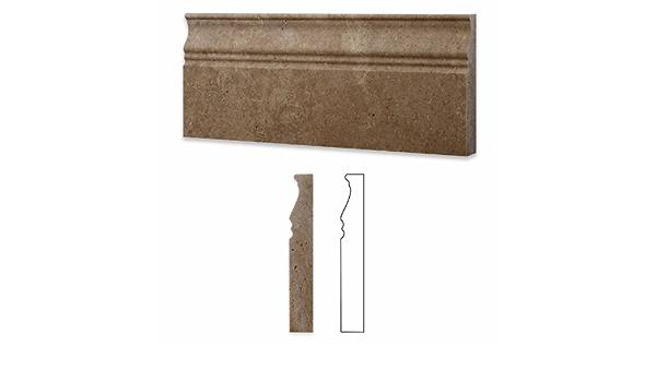 Box of 5 pcs. Noce Travertine Honed 1 X 6 Qaurter Round Trim Molding