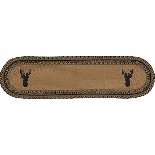 VHC Brands Classic Country Rustic & Lodge Tabletop & Kitchen - Trophy Mount Tan Jute Runner, 13