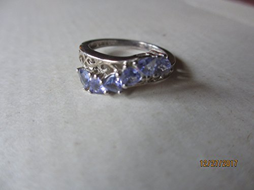 Rare Beautiful Vintage Amethyst Signed CD Sterling Silver Blue Rhinestone Ring, Sterling Vintage Rhinestone Ring, Maid of Honor Gift, Something Blue