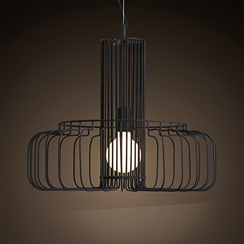 SSBY Simple wrought iron modern stripe Lantern chandeliers the Nordic art dining room living room single head lamp 350/500283/400mm , - Bronze Stripes Pendant White
