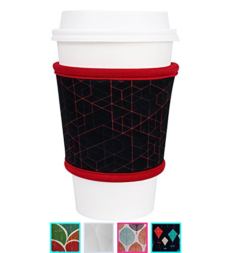 MOXIE Cup Sleeves – Premium Insulated Reusable Cup Sleeve for Coffee, Tea & Cold Drinks – One size fits all (Redline)