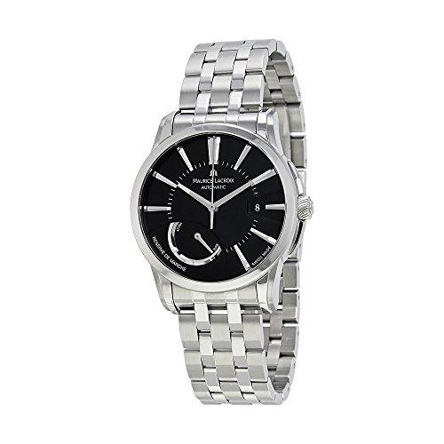 maurice-lacroix-mens-pt6168-ss002331-pontos-pontos-stainless-steel-black-dial-watch