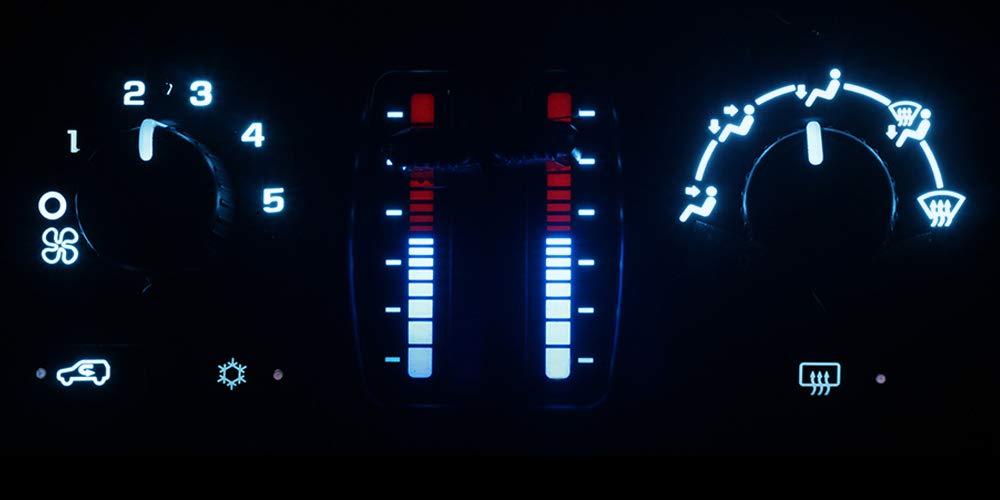 05-09 Trail Blazer HERCOO Blue LED Lights Bulbs of AC Climate Heater Control Compatible with Chevy 03-06 Silverado Avalanche Tahoe Suburban GMC 03-06 Sierra Yukon XL 05-09 Envoy XL XUV