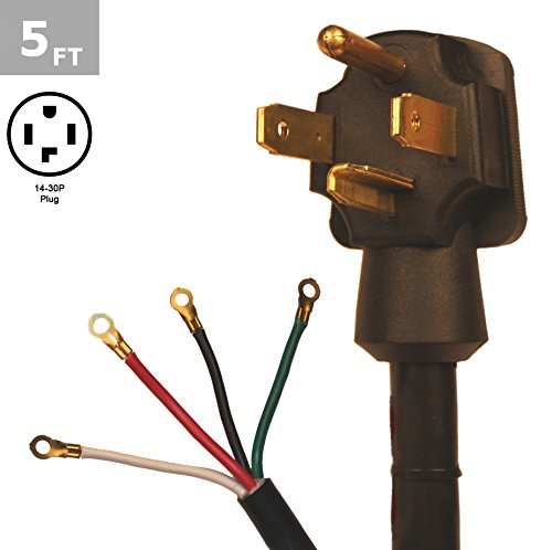 TES 5 Ft. 10/4 30 Amp 4 Wire Dryer Cord Kit (Clothes Dryer Cord)