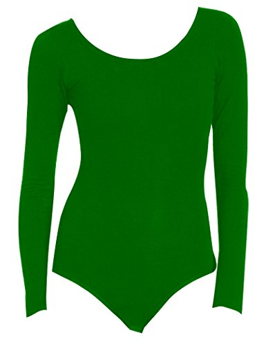DanceNWear Big Girls Long Sleeve Nylon/lycra Leotards ()