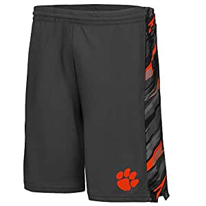 Mens NCAA Clemson Tigers Basketball Shorts (Charcoal) - 2XL