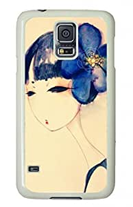 Best Custom Printed Design Durable Case Cover For Samsung Galaxy S5 with Blue Girl