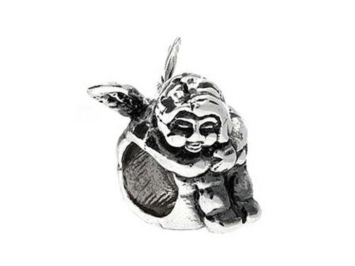 SilveRado Sterling Silver Cherub Bead / Charm (Charm Silverado Bead)