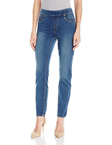 Tribal Women's Dream Jean Pull-on Skinny Jegging, Retro Blue, 14 (Tribal Clothing For Women)